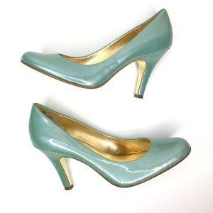 Joan and David Vintage Tiffany Blue Heels